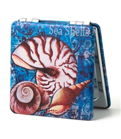 seashell  compack mirror
