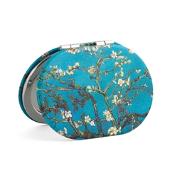 Van Gogh's  Almond Blossoms Oval Travel Mirror