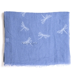 Dragonfly Scarf in Blue