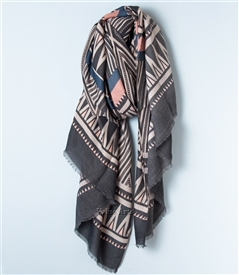 Geometric Scarf Gray