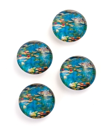 Water Lilies Set of 4 Magnet