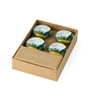 Van Gogh Wheat Field Cypresses Set of 4 Crystal Glass Magnet
