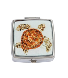 Sea Turtle Square Pill Box