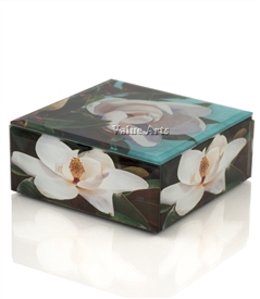 Magnolia Flower Keepsake Box