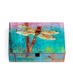 Red Dragonfly Keepsake Box