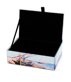 Vincent van Gogh' Fishing Boats On The Beach Keepsake Box