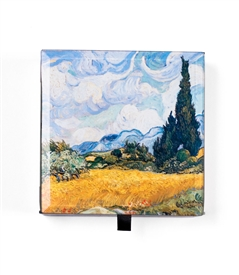 Wheat Field With Cypresses / Van gogh Keepsake Box