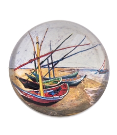 Van Gogh's Fishing Boats On The Beach at Saintes-Maries Paper Weight