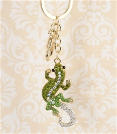 Green Crystal Lizard Key Chain/Purse Jewelry