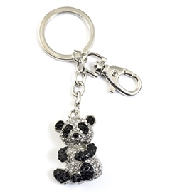 Crystal Panda Bear Purse Jewelry /Key Chain