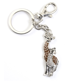 Crystal Giraffe Purse Jewelry /Key Chain
