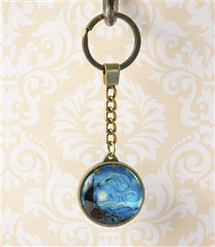 Starry Night by Vincent van Gogh Key Chain