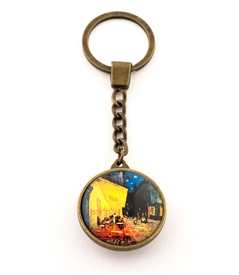 Cafe Terrace At Night  Key Ring