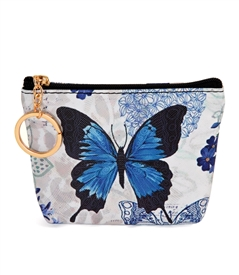 Blue Butterfly Change Purse