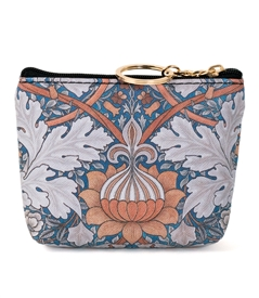 Orange Floral Keyring Coin Purse
