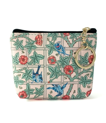 William Morris Birds and Flower Keying Coin Purse