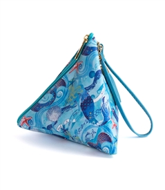 Mermaid Triangle Wristlet Clutch Purse
