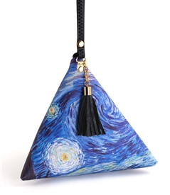 Starry Night Triangle Wristlet Clutch Purse