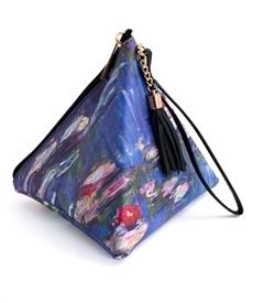 Monet's Water Lilies Triangle Wristlet Clutch Purse