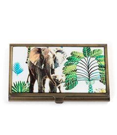 Elephant Family Card Case