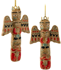Cloisonne totem pole ornament