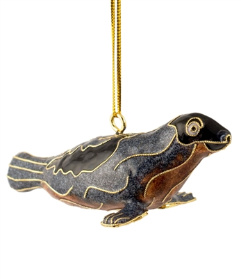Cloisonne Sea Lion Ornament
