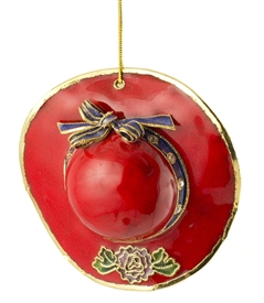 Cloisonne Red Hat Ornament