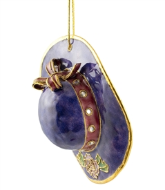 Cloisonne Rose Purple Hat Ornament