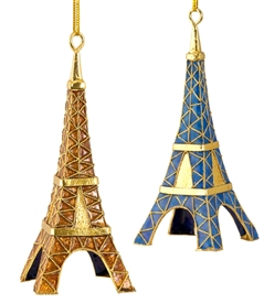 Cloisonne Eiffel Tower Ornament