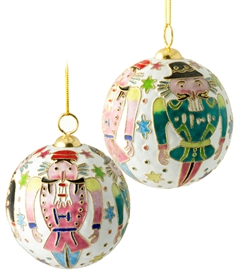 Cloisonne Nutcracker Ball Ornament