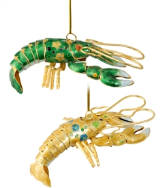 Cloisonne Articulate Lobster Ornament