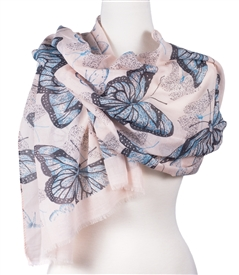 Butterfly Scarf in Pink