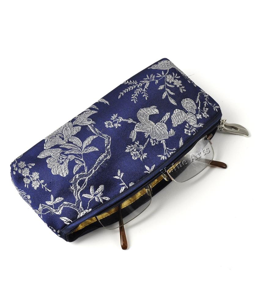 Silk Brocade Floral Eye Glass Case