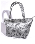 Silk Brocade Floral Large Tote Bag