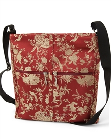 Silk Brocade Floral Large Crossbody Bag