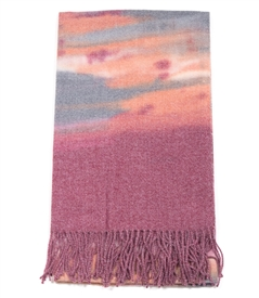 Mauve Tone Fringed Edge Wrap