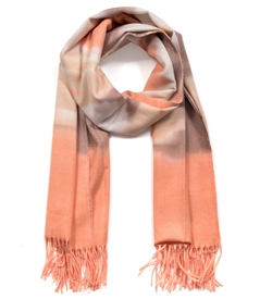 Peach Tone Fringed Edge Wrap