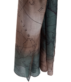Vintage World Map Scarf