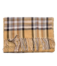 Plaid Scarf in Beige Color