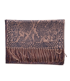 Animal Print Fringed Edge Wrap Scarf