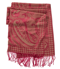 Paisley and Herringbone Design Scarf