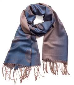 Stone Wash Blue Rose Scarf