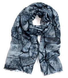 Cobblestone Frayed Edge Scarf