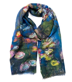 Water Lilies Pond/ Claude Monet Scarf